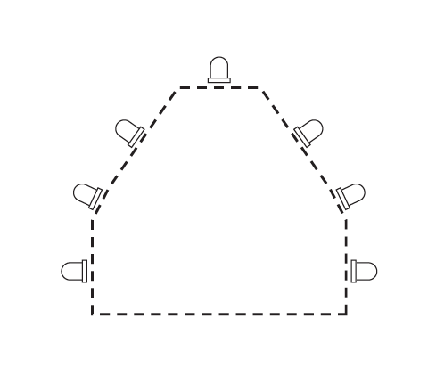 Picture of Connecting the LEDs on a Template
