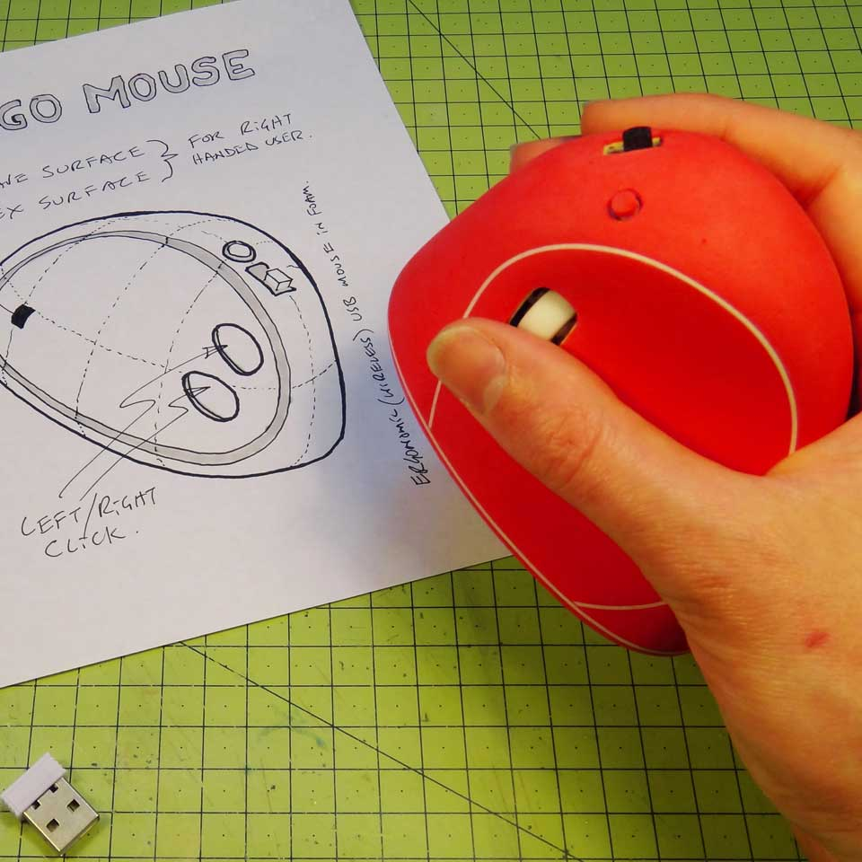 Picture of How to Make an Ergonomic USB Mouse (Ergo Mouse) - Made From Styrofoam