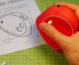 How to make an Ergonomic USB Mouse (Ergo Mouse) - made from Styrofoam