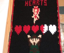 Legend of Zelda Valentine Message - Tunisian Crochet