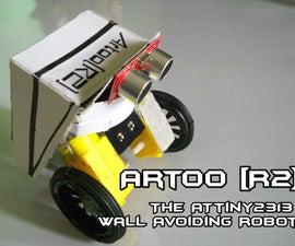 Artoo [R2] (ATtiny2313 Wall Avoiding Robot)