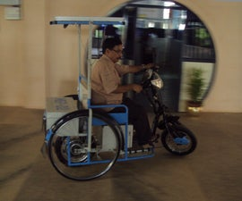 solar powered zero emission vehicle for a physically challenged people