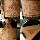Leather Beer Growler Holder