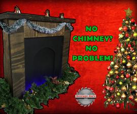 How to Make a Fold Away Christmas Fireplace Decoration