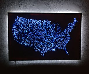 Illuminated Waterways of the United States Map