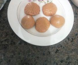 Vegan pea flour cakes