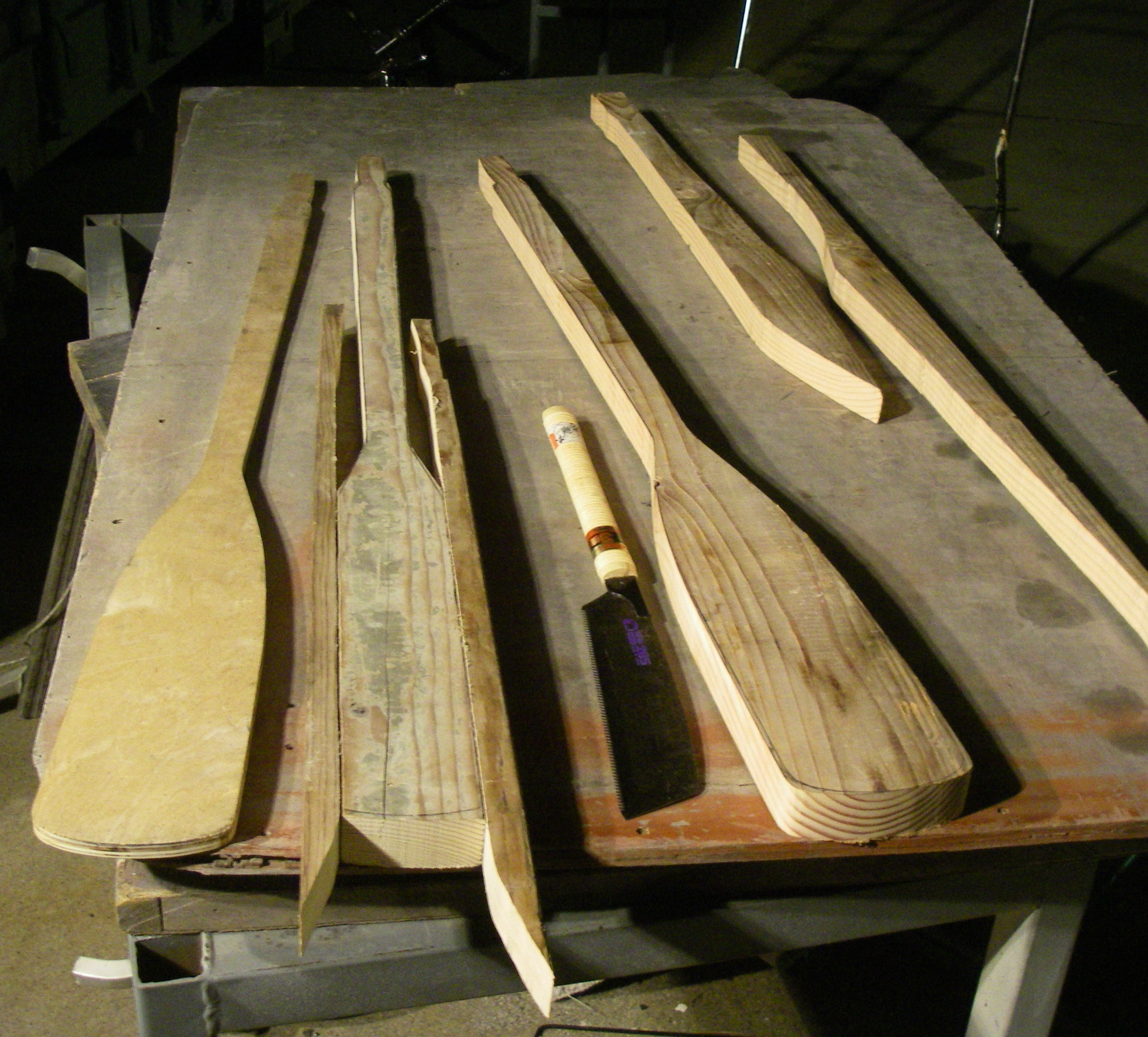 Picture of Cut Out the Oar Blank