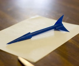 Paper Rocket with Launcher