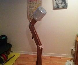 Recycled material designer lamp