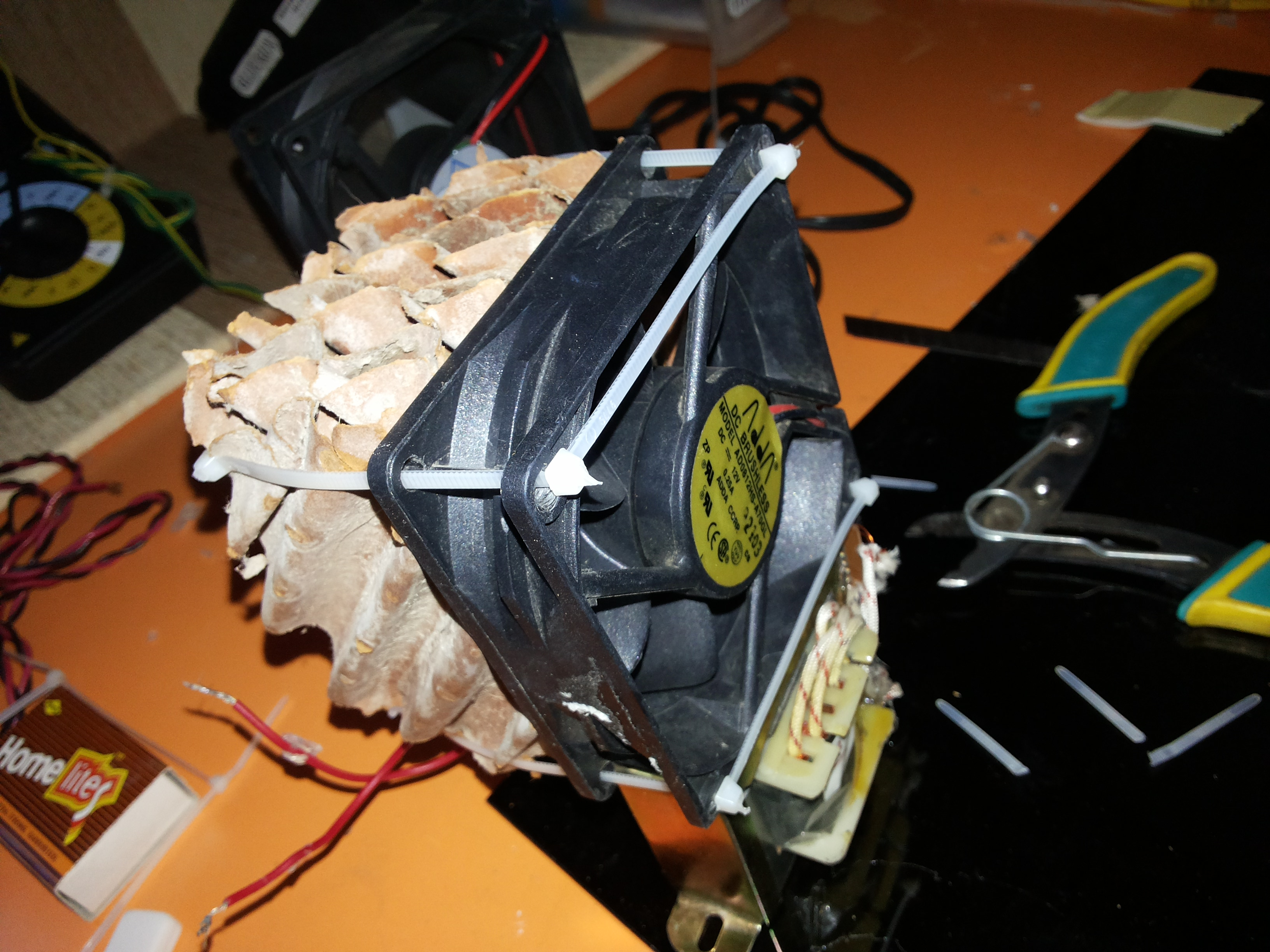Picture of Attach the Cooling Pad to the Fan