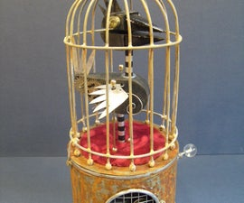 Steam punk Singing bird