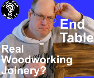 End Table With Open Mortise Joinery