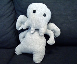 Old T-Shirt To Stuffed Cthulhu