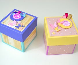 How to Make an Exploding Box Using Cricut Explore Air 2 - DIY Kit + Tutorial ( Explosion Box Card for Beginners )