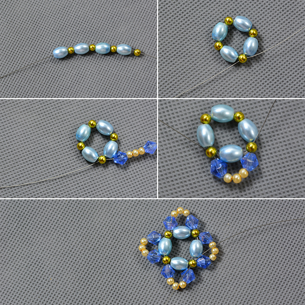 Picture of Make the Base of the Pearl Beads Necklace