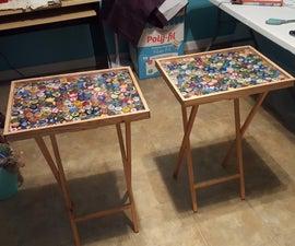 No-resin Folding Bottle Cap Tables