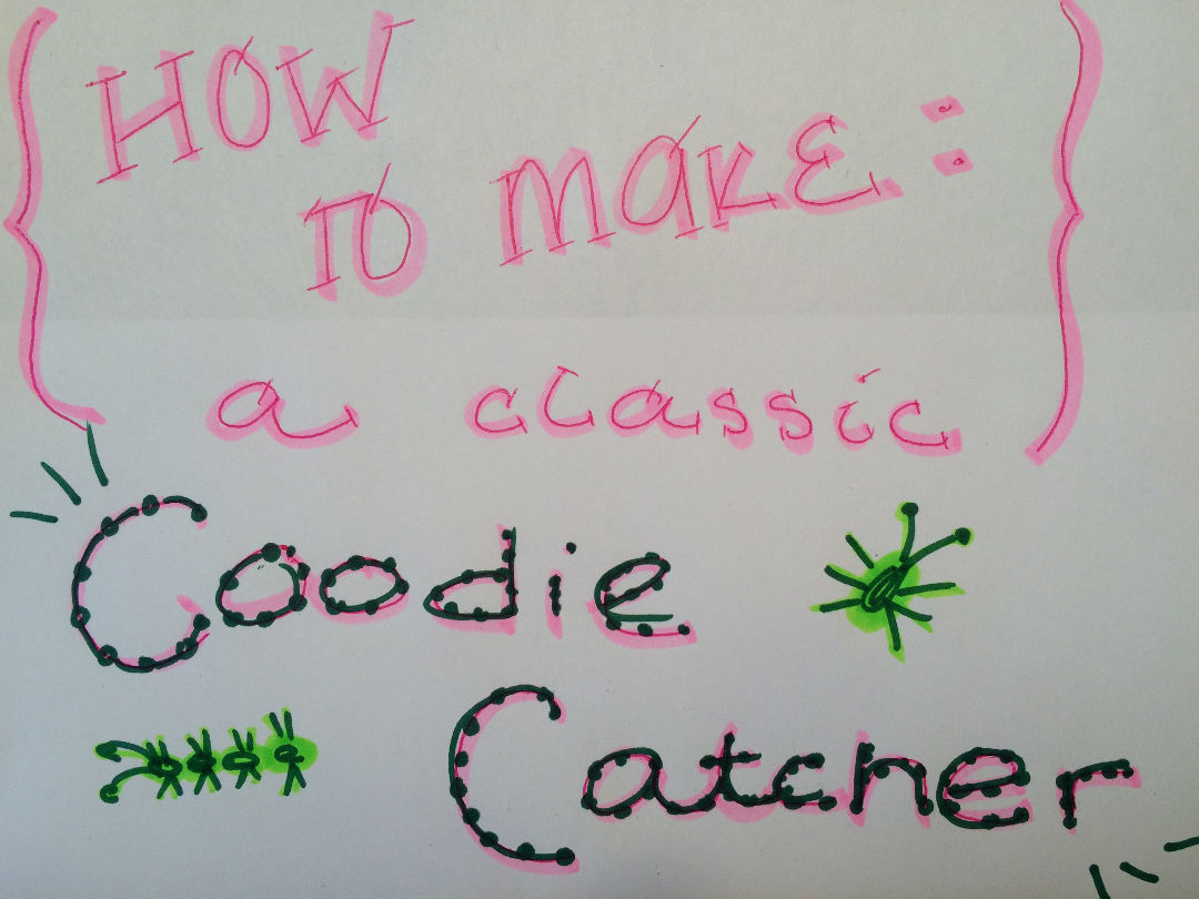 Picture of How to Make a Fortune Coodie Catcher