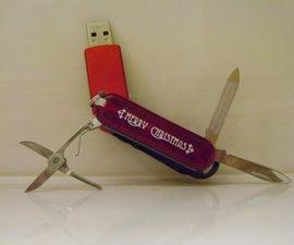 USB Thumb Drive Pocket Knife