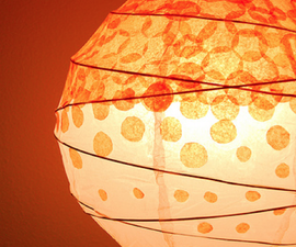 Dotted Tissue Paper Lantern