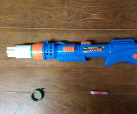 Convert a Blastzooka into a 6-dart Nerf super shotgun