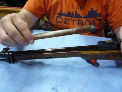 Removing the Barrel and Cleaning Rod