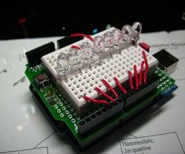 "led + arduino ""running light"" (very simple, good for beginners)"