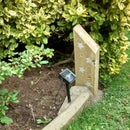 Concrete Garden Solar Light