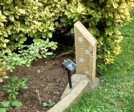 Concrete Garden Solar Light
