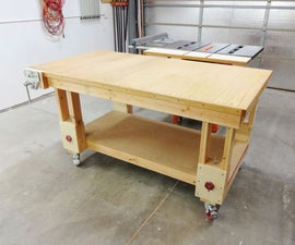 Height-Adjustable Outfeed Worktable