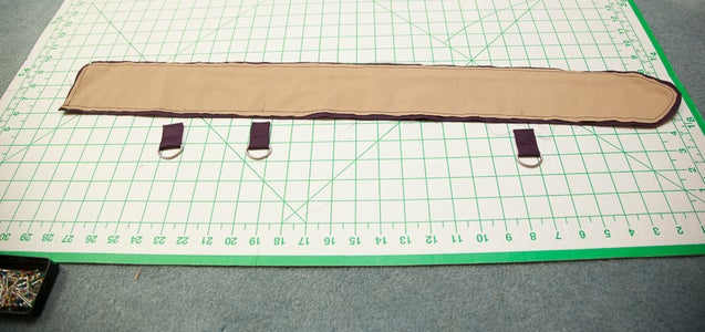 Attaching the D-ring Tabs and Sewing the Belt