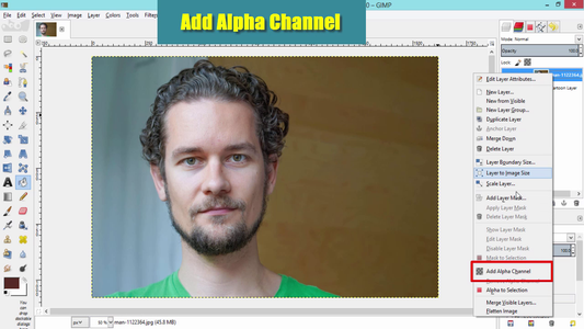Add Alpha Channel to the Source Layer