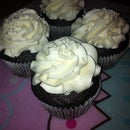 Dark Chocolate Cupcakes with Marshmallow Buttercream