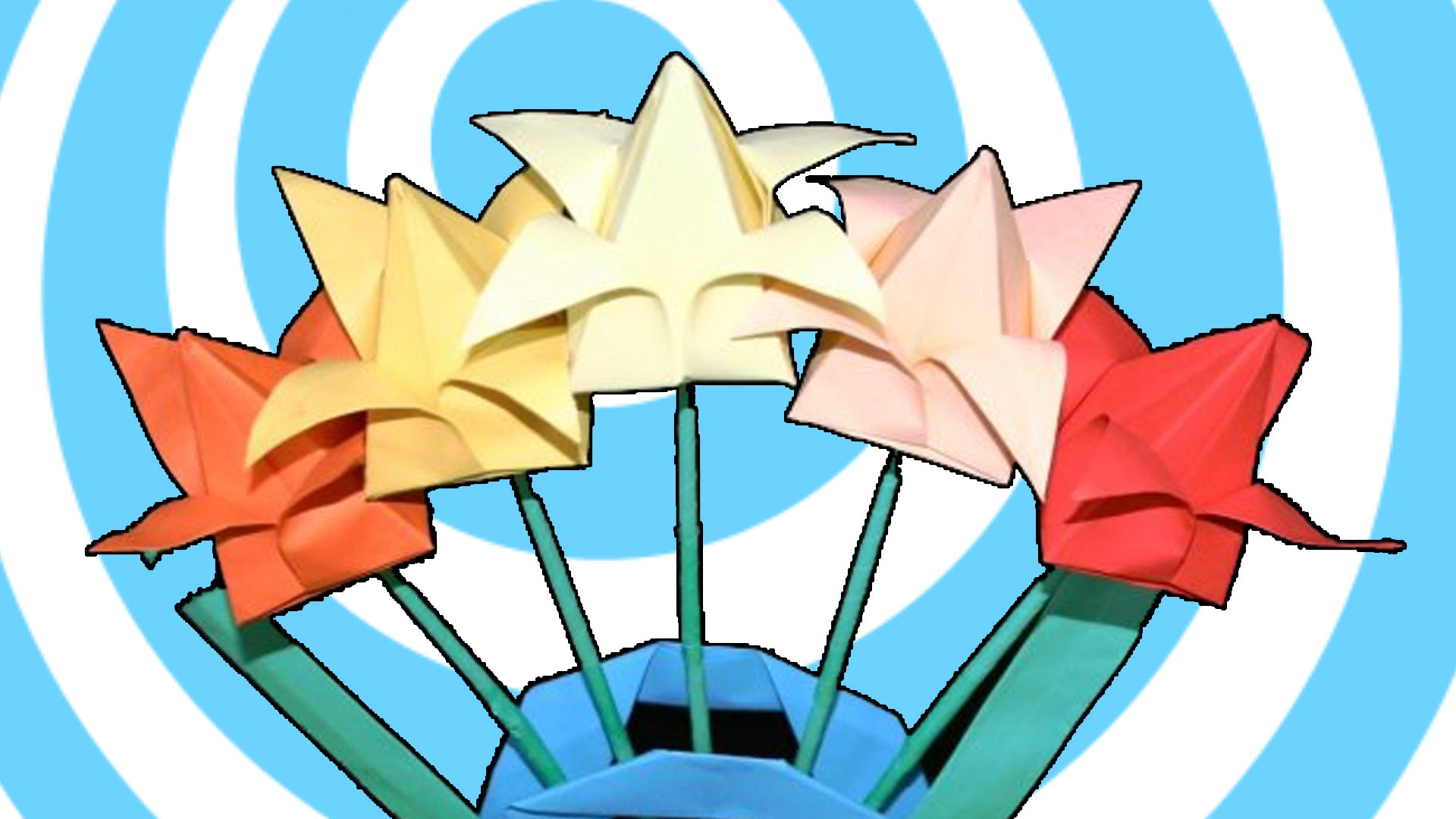 How To Make An Origami Tulip Flower Video Tutorial