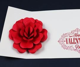 Pop Up Rose Valentine's Day Card