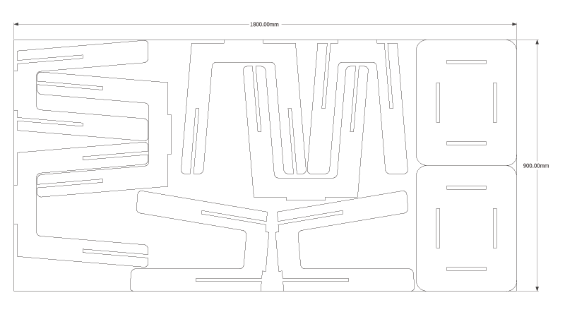 Picture of Plywood Stool Plan Layout