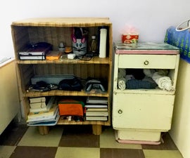 Turn Old Cheap CardBoard Box Into a Useful Premuim Storage Shelf With Space for Everything