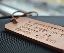 Father's Day DIY: Embossed Leather Luggage Tag & Tie Clip