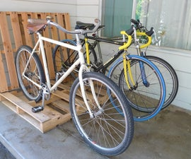 Simple Pallet Bike Rack