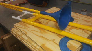 Picture of PVC Trombone With 3D Printed Bell and Mouthpiece