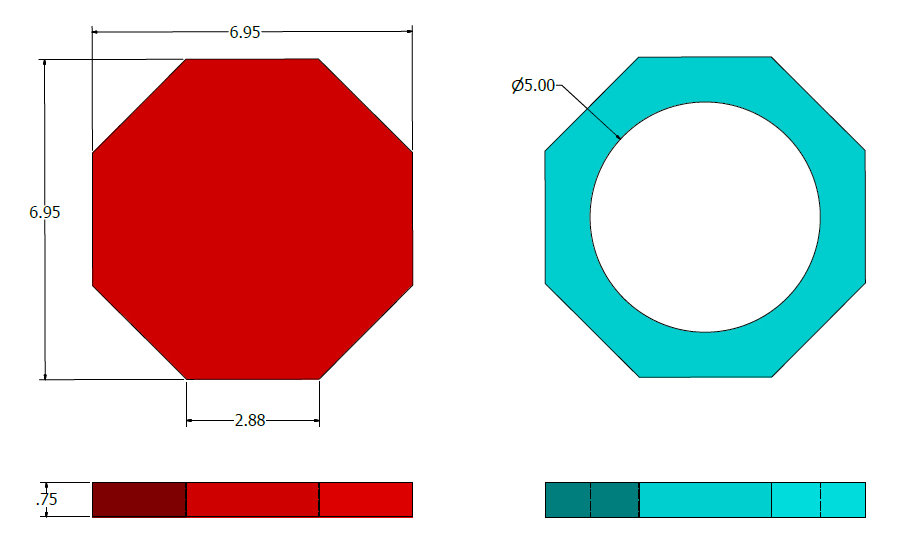 Picture of Octagon Size Calculation