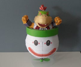 Papercraft Bowser Jr. and his Koopa Clown Car