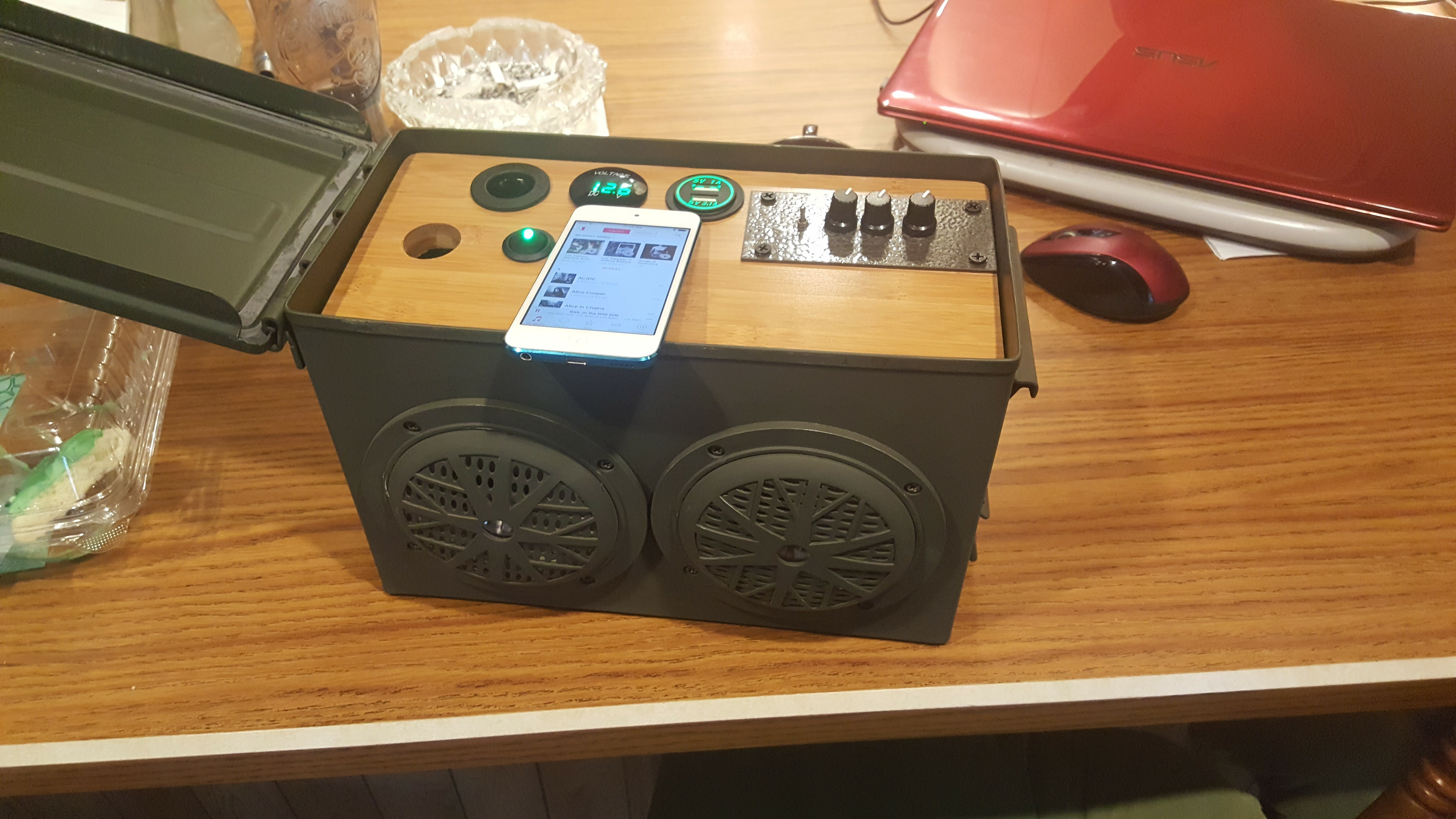 Picture of Ammo Can Bluetooth Speaker Power Supply