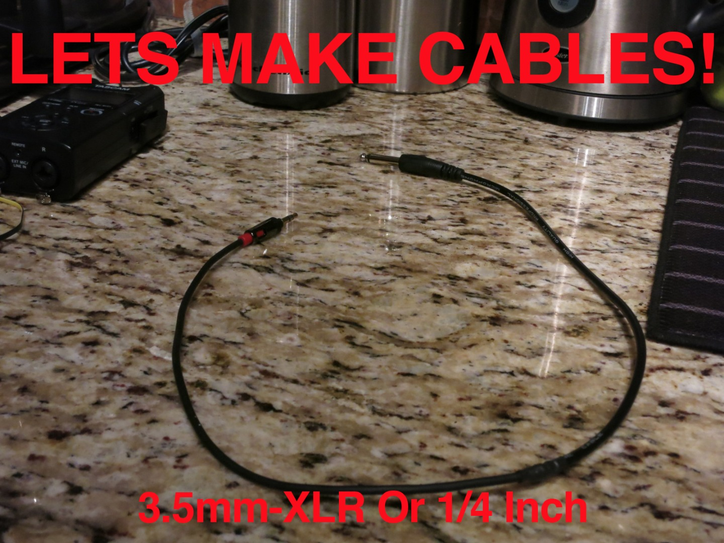Picture of Audio Cables: 3.5mm to 1.4 Inch or XLR & 1/4 Inch or XLR to 3.5mm