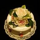 1940s style faux wedding cake