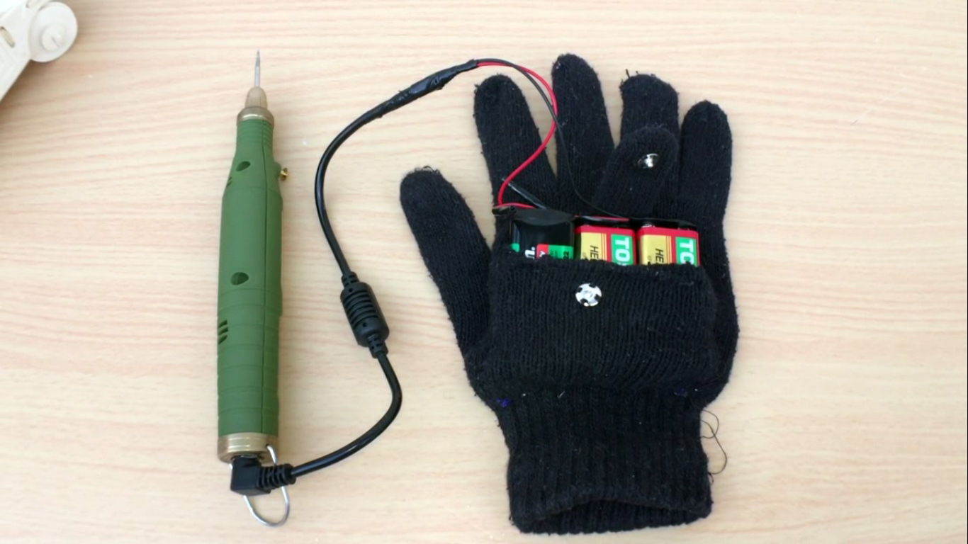 Picture of Portable Battery Pack Glove (Video)