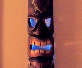 Glowing tiki mask using EL Wire
