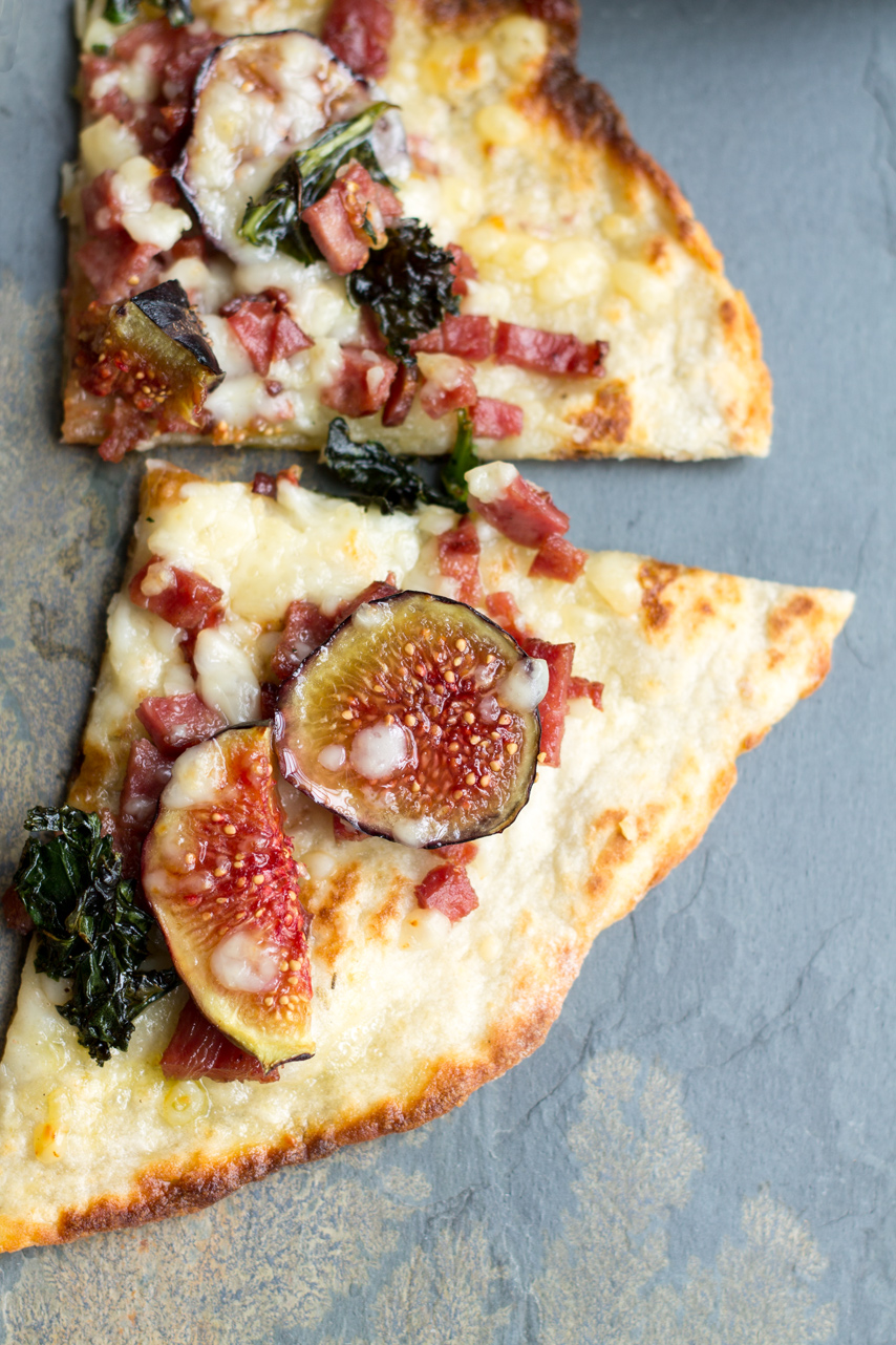 Picture of Amazing Flatbread Topped With Duck Bacon and Figs