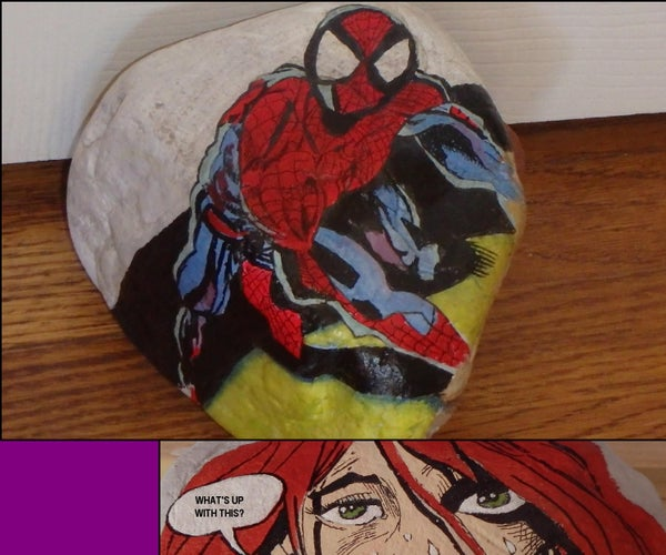 How to Paint Comic Characters on Rocks
