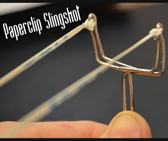 How to Make a Paperclip Slingshot