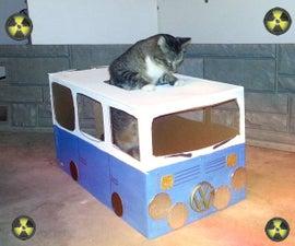 Volkswagen Van from BTTF - Kitty Edition